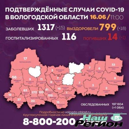 На Вологодчине 799 пациентов с коронавирусом успешно прошли лечение